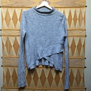 Free People Grey Lightweight Mock Neck Sweater S
